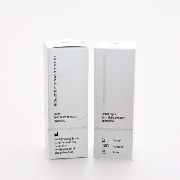zulan policresulen polikrezulen - preparat do tamowania krwawienia, obkurczania ziarniny, przecibakteryjny, grzybobójczy, rzęsistkobójczy