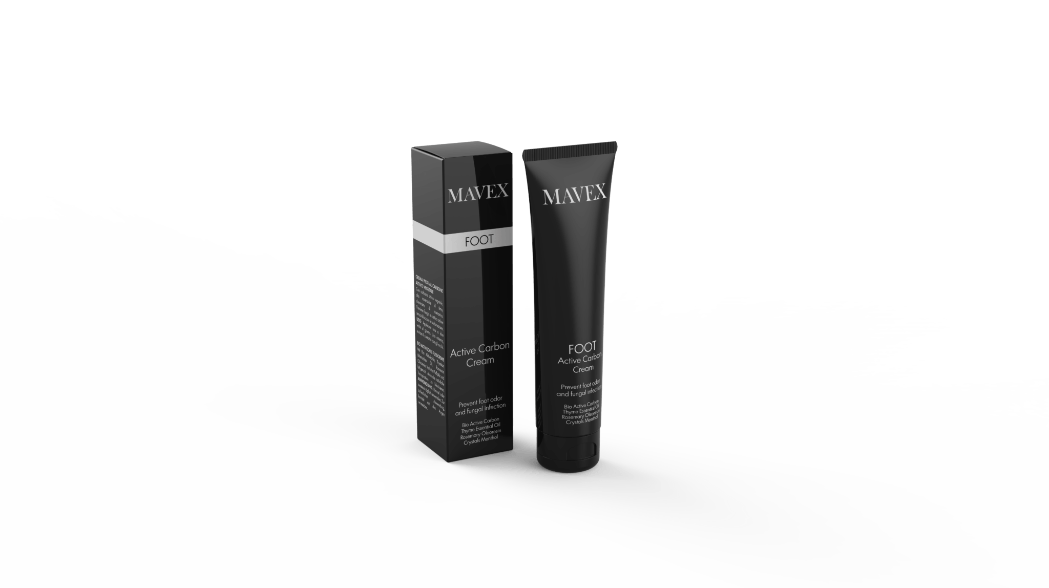 mavex foot daily cream carbon active