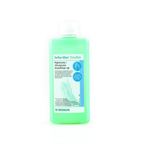 new9 600x600 - Softa® Man Visco Rub 500 ml Żel do dezynfekcji rąk o wrażliwej skórze